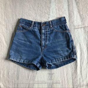 Vintage 1970s Chemin De Fler Denim Shorts